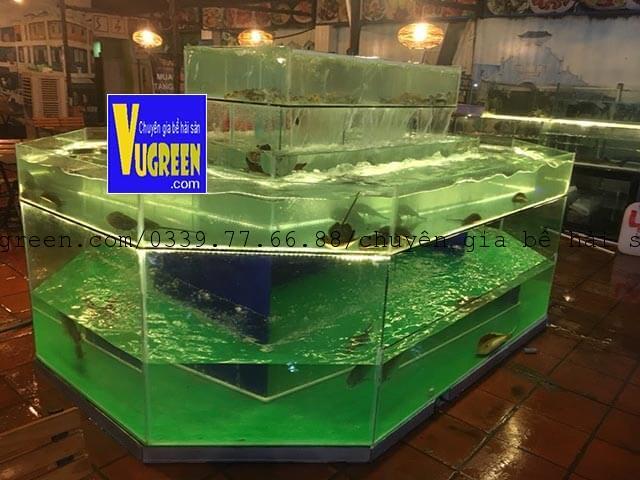 Bể hải sản kính chồng kính