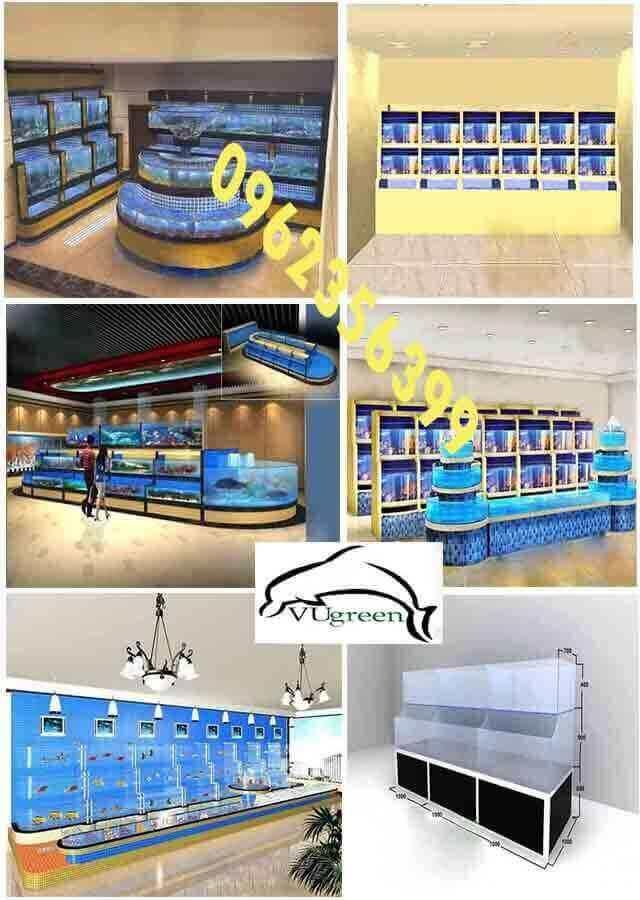 Mẫu thiết kế ảnh 3d dàn bể hải sản 1