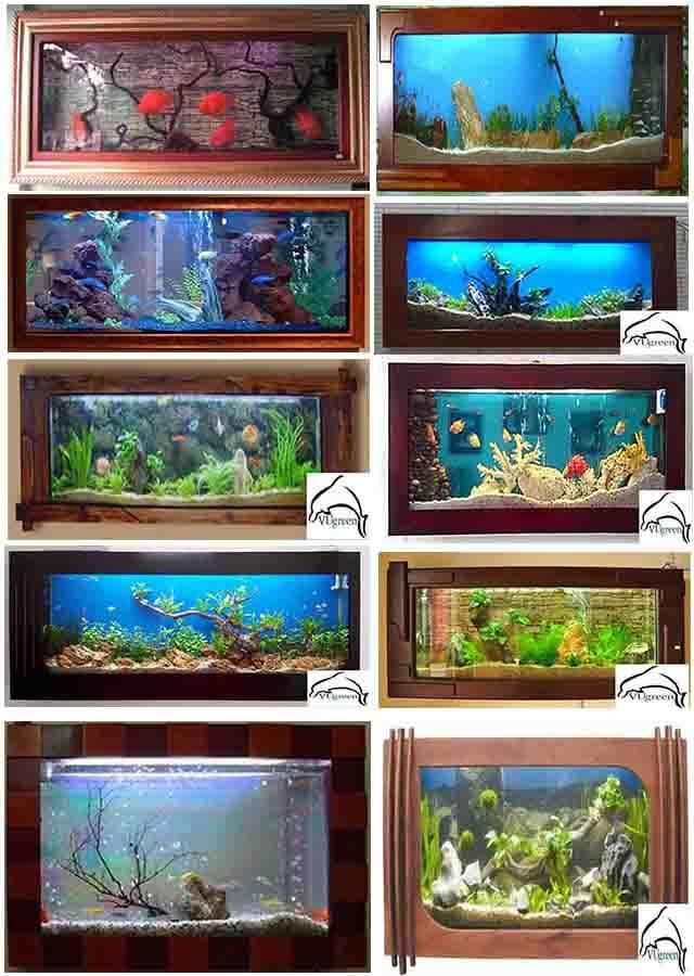 Mẫu bể cá treo tường 1