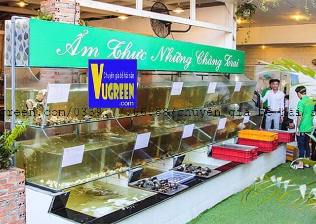 bể nuôi hải sản nhà hàng